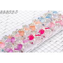 Крабы серебро цветные пластинки бабочка /уп 12