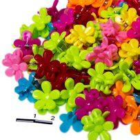 Крабики пакет цветочки цветные /уп 100