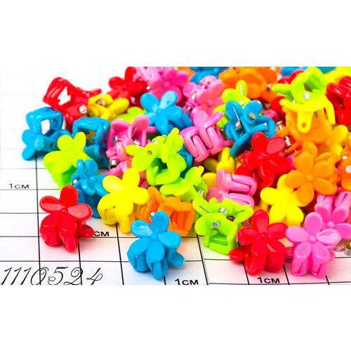 Крабики цветочки мм цветные /уп 100