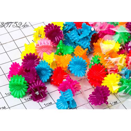 Крабики цветочки мм неон /уп 100