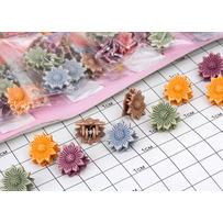 Крабики матовые цветочек /уп 120