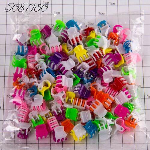 Крабики пакетные 2-х цветные (100шт/уп)