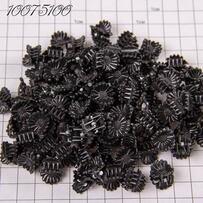 Крабики пакет М. цветочек чёрный /уп 100