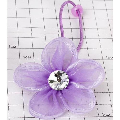 Резинки на ленте цветок со стразиной /уп 20