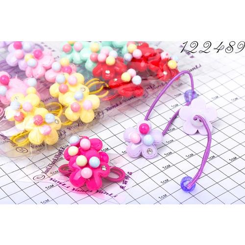 Резинки парные цветочек с шариками /уп 2