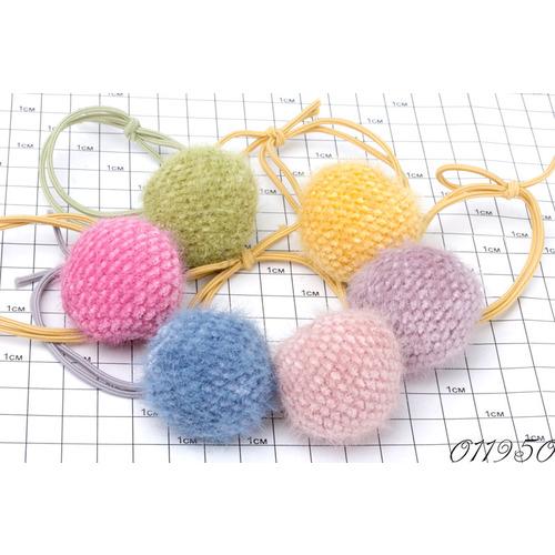 Резинки шарики вязаные /уп 10