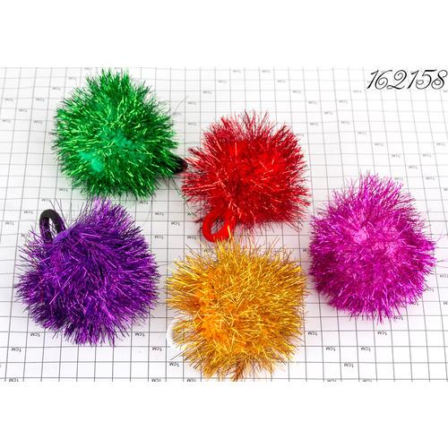 Резинки шарик мишура, цветные