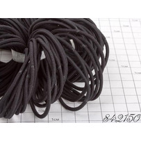 Резинки  склейка чёрная тонкая /уп 50