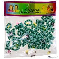 резинки принт мм зелёные /уп 40