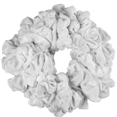 Резинки бархатные большие белые