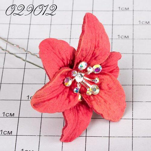 Шпильки цветок коралловый