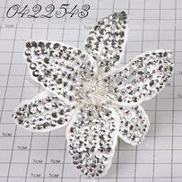 Шпильки Б цветок страз серебро