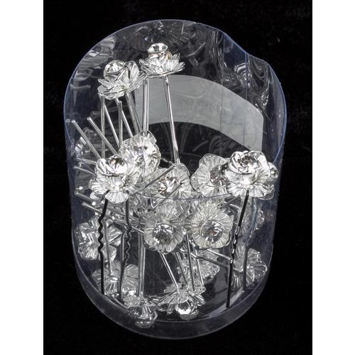 Шпильки металл  цветок /уп 20