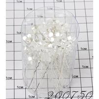 Шпильки цветочек пластик мм /уп 20