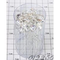 Шпильки кристалл сердечко  на ножке (п) /уп 20