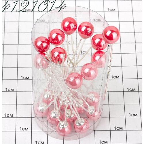 Шпильки жемчужина перл. коралловые /уп 20