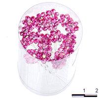 Шпильки цветочек б малиновые /уп 20