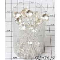 Шпильки кристалл на ножках белый /уп 20