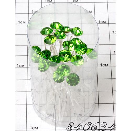 Шпильки камень салатовый /уп 20