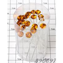 Шпильки Б. камень рыжий /уп 20