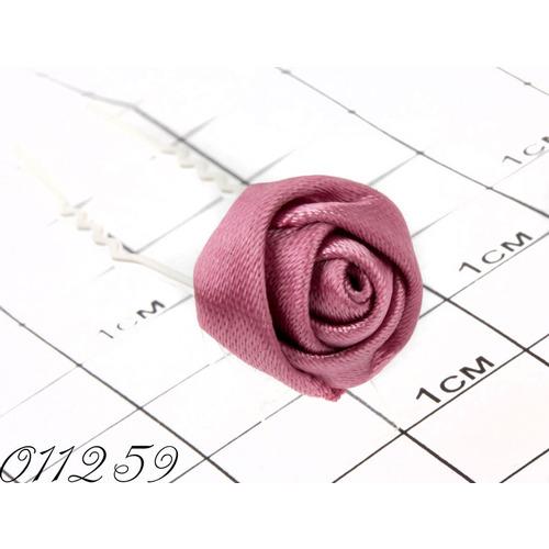 Шпильки розочка ткань розовая/уп 20