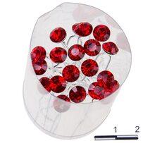 Шпильки Б. камень Рубиновые (п)/уп 20