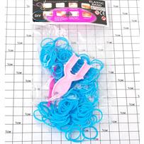 Резинки силикон синие /уп 2400